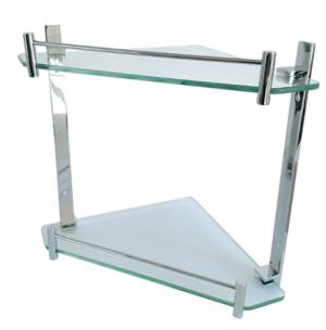 MODENA TOILET BRUSH & HOLDER  83010 - image 9-MODENA-Glass-Corner-Shelf-Double-250-300x304 on https://portellihomecentre.com.au