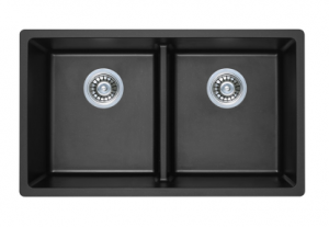 DOUBLE BOWL BLACK KITCHEN SINK 790X460MM