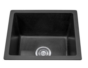 SINGLE BOWL BLACK KITCHEN SINK 460X410MM