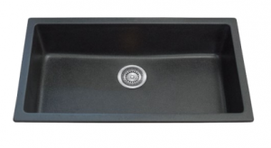 SINGLE BOWL BLACK KITCHEN SINK 790X460MM