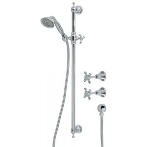 LILLIAN Rail Shower Set with taps - Chrome