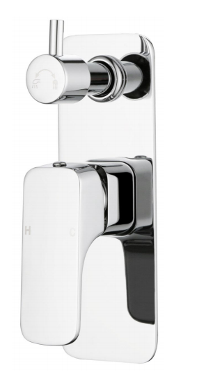 Chaser Wall Mixer With Diverter - Chrome