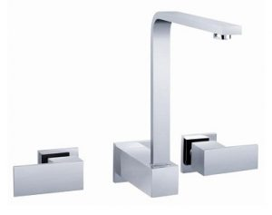Square Handle Wall Sink Set