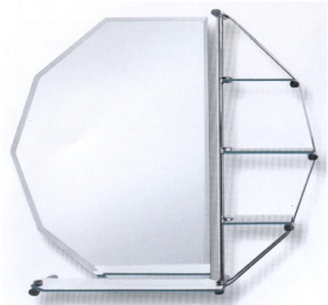MIRROR WITH SHELVES 800X800mm