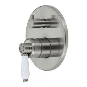 ELEANOR Wall Mixer Diverter Brushed Nickel / Brushed Nickel 202102NN - image 202102BN-300x300 on https://portellihomecentre.com.au