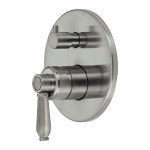 ELEANOR Wall Mixer Diverter Brushed Nickel / Brushed Nickel 202102NN - image 202102NN-300x300 on https://portellihomecentre.com.au