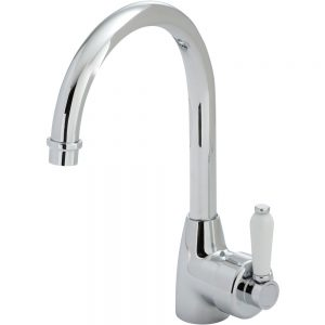 ELEANOR Gooseneck Sink Mixer, Chrome / Ceramic
