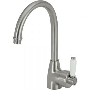 ELEANOR Gooseneck Sink Mixer, Matte Black / Ceramic 202109BK - image 202109BN-300x300 on https://portellihomecentre.com.au