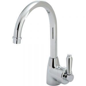 ELEANOR Gooseneck Sink Mixer, Chrome / Chrome 1