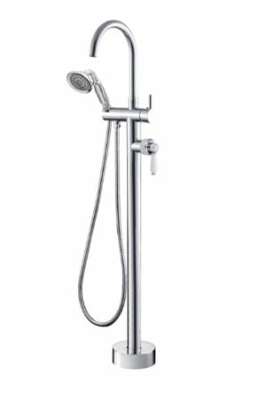 ELEANOR Gooseneck Basin Mixer, Chrome / Ceramic - image ELEANOR-Floor-Mixer-Shower-Chrome-Ceramic-300x451 on https://portellihomecentre.com.au