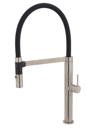 Kaya Basin Tap Set, Brushed Nickel 338101BN - image 119-KAYA-Pull-Down-Sink-Mixer-Brushed-Nickel-300x420 on https://portellihomecentre.com.au