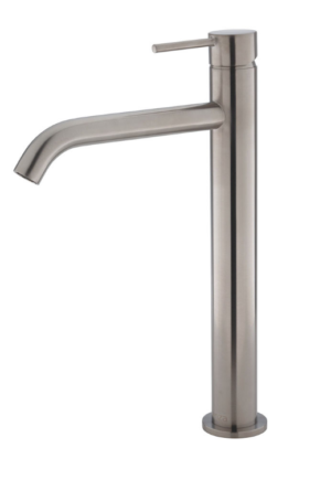 Kaya Basin Tap Set, Brushed Nickel 338101BN - image 123-KAYA-Tall-Basin-Mixer-Brushed-Nickel-300x435 on https://portellihomecentre.com.au