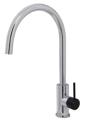 Kaya Basin Tap Set Chrome 338101 - image 129-KAYA-Sink-Mixer-Matte-Black-Handle-300x412 on https://portellihomecentre.com.au
