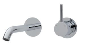 KAYA Basin Mixer - image 24-KAYA-UP-Wall-Basin-Bath-Mixer-Set-Round-Plates-160mm-Outlet-300x177 on https://portellihomecentre.com.au