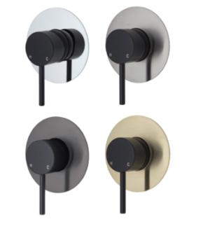 KAYA Basin Mixer, Urban Brass228103UB - image 60-KAYA-Wall-Mixer-Matte-Black-Large-Round-Plate-300x330 on https://portellihomecentre.com.au