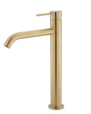 KAYA Basin Mixer, Urban Brass228103UB - image 93-KAYA-Tall-Basin-Mixer-Urban-Brass-300x373 on https://portellihomecentre.com.au