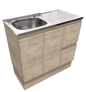 Citi UniCab™ 900 Vanity on Kickboard - image Citi-Edge-Scandi-Oak-900-Vanity-on-Kickboard-image-300x321 on https://portellihomecentre.com.au