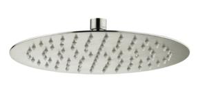 S/S Shower Head Round 300mm*2mm Rose Gold / SH16 (RG) - image KAYA-Round-250-Shower-Head-Brushed-Nickel-300x145 on https://portellihomecentre.com.au