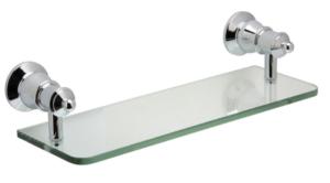 LILLIAN Towel Ring, Chrome - image 110-LILLIAN-Glass-Shelf-Chrome-300x166 on https://portellihomecentre.com.au