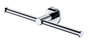 KAYA Robe Hook, Chrome - image 142-KAYA-Double-Roll-Holder-Chrome-300x141 on https://portellihomecentre.com.au