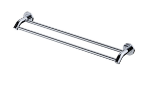 KAYA Robe Hook, Chrome - image 146-KAYA-600mm-Double-Towel-Rail-Chrome-300x168 on https://portellihomecentre.com.au