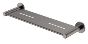 KAYA UP Wall Basin/Bath Mixer Set, Gun Metal, Round Plates, 200mm Outlet 228118GM-200 - image 149-KAYA-Shower-Shelf-Gun-Metal-300x149 on https://portellihomecentre.com.au