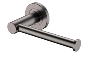 KAYA UP Wall Basin/Bath Mixer Set, Gun Metal, Round Plates, 200mm Outlet 228118GM-200 - image 152-KAYA-Roll-Holder-Gun-Metal-300x193 on https://portellihomecentre.com.au