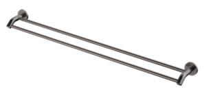 KAYA UP Wall Basin/Bath Mixer Set, Gun Metal, Round Plates, 200mm Outlet 228118GM-200 - image 154-KAYA-900mm-Double-Towel-Rail-Gun-Metal-300x140 on https://portellihomecentre.com.au