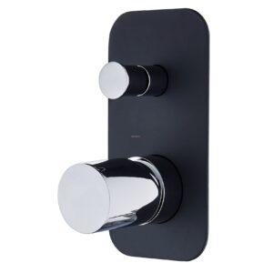 Zenon V2 - Basin Mixer - image 3-Shower-Bath-Mixer-with-Diverter-Zenon-Noir-Black-and-Chrome-300x300 on https://portellihomecentre.com.au