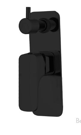Chaser Bath Spout - Black - image 33-Shower-Bath-Mixer-with-Diverter-Chaser-Black on https://portellihomecentre.com.au