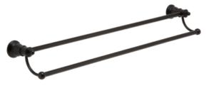LILLIAN Towel Ring, Matte Black - image 99-LILLIAN-Double-Towel-Rail-Matte-Black-300x131 on https://portellihomecentre.com.au