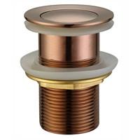 Push Plug Waste With Overflow 32mm (Rose Gold)  / PPW32-2 (RG) - image PPW32-1-RG on https://portellihomecentre.com.au