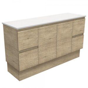 Edge Scandi Oak 600 Wall-Hung Cabinet 60S - image 150SK-600x600-300x300 on https://portellihomecentre.com.au