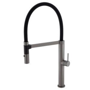 KAYA Basin Mixer, Gun Metal 228103GM - image 228109GM-300x300 on https://portellihomecentre.com.au