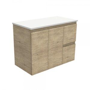 Edge Scandi Oak 600 Wall-Hung Cabinet 60S - image 90S-600x600-300x300 on https://portellihomecentre.com.au