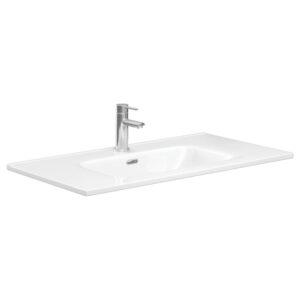 JOLI 600 Ceramic Basin-Top / 1 Tap hole - image JOL90-300x300 on https://portellihomecentre.com.au