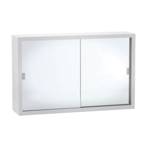 600 Metal Cabinet with Glass Mirror Doors - image MC6038-300x300 on https://portellihomecentre.com.au