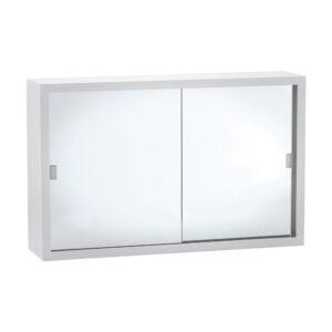 600 Metal Cabinet with Glass Mirror Doors - image MC6038A-300x300 on https://portellihomecentre.com.au