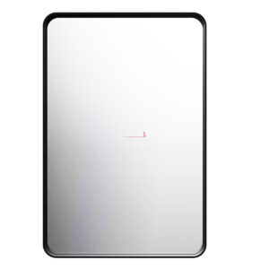 Square Mirror 900x600x35mm - BLACK FRAME - image MI-900-600-BLK-300x300 on https://portellihomecentre.com.au