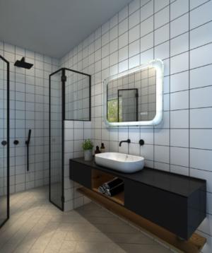 GATSBY LED Wall Mirror RGA45 / 450 x 900 - image OTIS-PREMIUM-300x358 on https://portellihomecentre.com.au