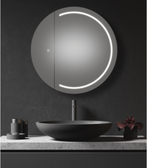 AMBER LED Shaving Cabinet RSCAM75 / 750x700 ( 4 Size options ) - image PEARL-300x341 on https://portellihomecentre.com.au