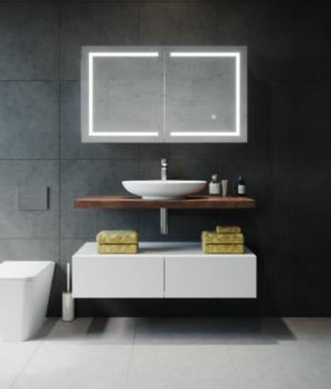 AMBER LED Shaving Cabinet RSCAM75 / 750x700 ( 4 Size options ) - image VERA-300x353 on https://portellihomecentre.com.au