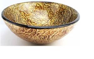 RENAISSANCE GOLD - Round Gold Etched Tempered Glass Countertop Vanity Basin. - image Webp.net-resizeimage-9-300x188 on https://portellihomecentre.com.au