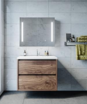 AMBER LED Shaving Cabinet RSCAM75 / 750x700 ( 4 Size options ) - image amber-300x360 on https://portellihomecentre.com.au