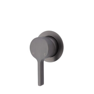 Sansa Wall Mixer, Gun Metal, Small Round Plate 229101GM - image 229101GM-500x500-300x300 on https://portellihomecentre.com.au