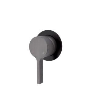 Sansa Wall Mixer, Gun Metal, Small Round Plate 229101GM - image 229101GMB-500x500-300x300 on https://portellihomecentre.com.au