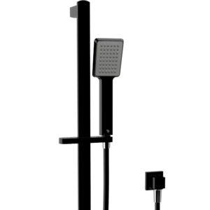 Kaya Rail Shower, Chrome, Matte Black Heads 444109CB - image 444107B_1-300x300 on https://portellihomecentre.com.au
