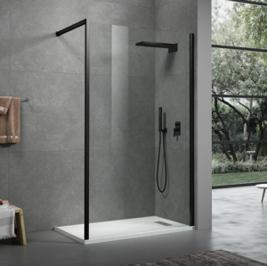 Kubix Door 900×900 KUD90C Chrome ( 7 Size Options) & (2 colour Options) - image Kubix-Shower-Panel4-300x298 on https://portellihomecentre.com.au