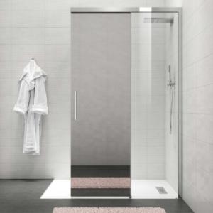 Kubix Door 900×900 KUD90C Chrome ( 7 Size Options) & (2 colour Options) - image Metro-Slider-Panel-Mirror-Door-300x300 on https://portellihomecentre.com.au