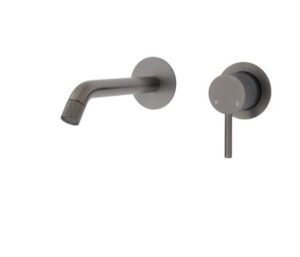 Axle Basin Mixer, Gun Metal231103GM - image 231104GM-300x257 on https://portellihomecentre.com.au
